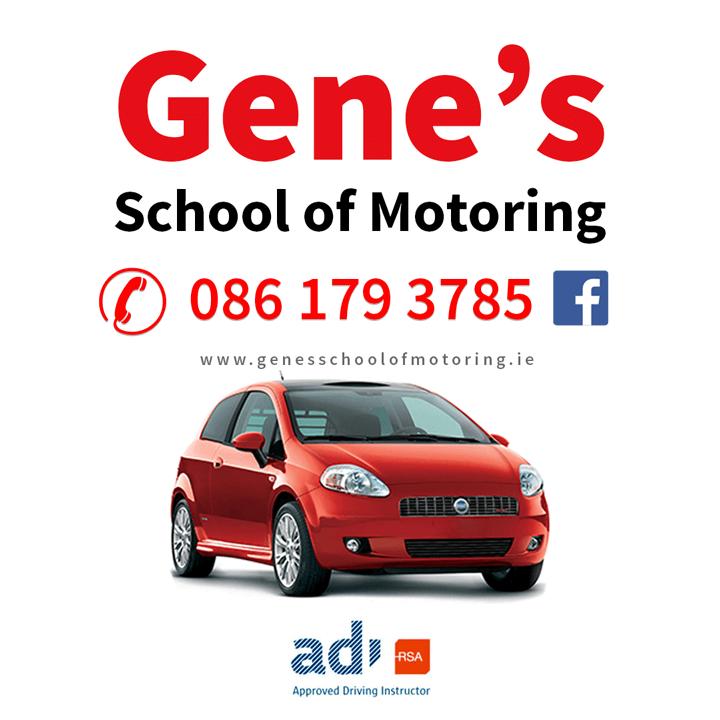 Gene's School of Motoring • Driving Instructor Youghal, Dungarvan Area • Ex Tester • ADI